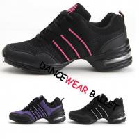 Buy cheap Three Contrast Color Stripe Mesh Jazz Dance Sneaker from wholesalers