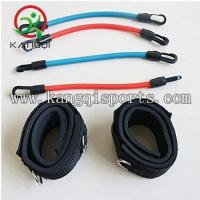 Wholesale Ankle Latex Resistance Band Set with Padded Straps and Plastic Hooks from china suppliers