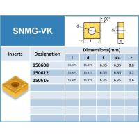 Wholesale Carbide Turning Inserts SNMG-VK from china suppliers
