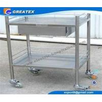 Buy cheap Removable Stainless Steel Instrument Medical Trolley with One Drawer , Two shelves from wholesalers