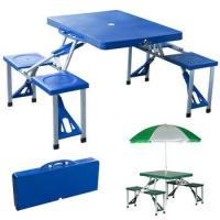 Buy cheap Outdoor Plastic Camping Folding Picnic Table and Chair Set for 4 Seats from wholesalers