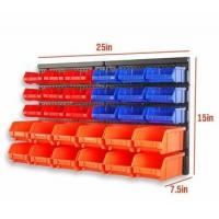 Buy cheap 30pc Wall Mounted Storage Garage Tools Small Parts Plastic Bins Organizer Rack from wholesalers