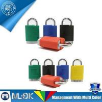 Buy cheap MOK @ W202/202L Aluminum padlock with plastic cover curved plastic waterproof cover padlock from wholesalers