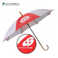 Wholesale Straight Umbrella Cheap Advertising Promotion Crook Handle Auto Open Umbrella from china suppliers