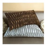 Buy cheap Cushion Quilted coffee/brown color Z-fold luxury decoration pillow cushion cover for sofa bedding from wholesalers