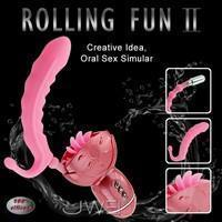 China Anal Toys Rolling Fun II - Oral Sex Simulator (Clitoris, G-Spot & Anal) on sale