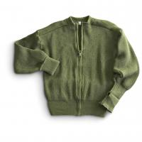 Buy cheap Custom unisex military cardigan sweater full zipper army green warm sweater from wholesalers