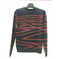 Buy cheap Hot sale design black and red knitted pattern long sleeve sweater for men from wholesalers