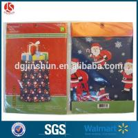 Buy cheap Clear Plastic Shrink Wrap Christmas Santa Claus Drawstring Gift Packing Bag from wholesalers