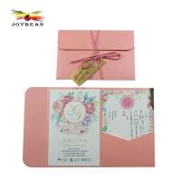 Buy cheap Wedding pocket paper invitation cards from wholesalers