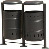 Steel Bins Products Name:Arlau BS11 outside furniture manufacturer garbage waste bins