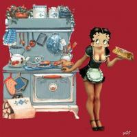 Betty Serving Food Fashioned Country Stove Food Untensils Etc Betty Boop