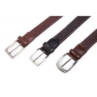 Wholesale belts for men AF-234 Mens brown leather braided belts from china suppliers