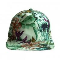 Buy cheap Baseball Caps Blank hawaii style floral print fabric 5 panel cap from wholesalers