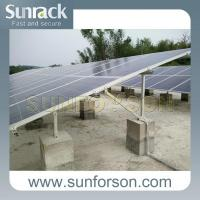 Buy cheap Solar Panel Ground Mount Stand Structure Solar Pv Aluminum Mounting Bracket System from wholesalers