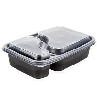 Wholesale Genpak FPR232-CL Smart-Set Pro 6 18 x 8 34 x 2 Rectangular 2-Compartment Microwaveable Container from china suppliers
