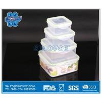Wholesale BL2137A 4pcs/set Square Plastic Lunch Box PP Stackable Microwaveable from china suppliers