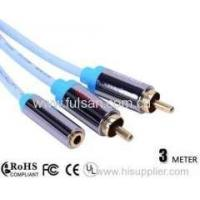 Buy cheap RCA Y Cable 3.5mm Female to 2RCA Cable 3m/10ft from wholesalers