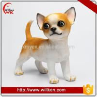 Buy cheap Animal Statues Statues yard art resin animal pup wolf dog decoration from wholesalers