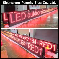 Product:waterproof Outdoor P10 Red Led moving signs