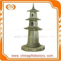 Wholesale Antique high quality wholesale brass metal 3d tower trophy for home decorations from china suppliers