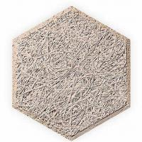 Buy cheap Hexagon wood wool acoustic panel from wholesalers