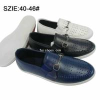 Buy cheap New style Fashion Low price men's slip on injection breathable casual leather shoes from wholesalers