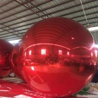 Buy cheap Red Inflatable Mirror Ball/Inflatable Decoration Ball For Event from wholesalers