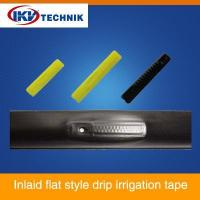 Inlaid flat style drip irrigation tape