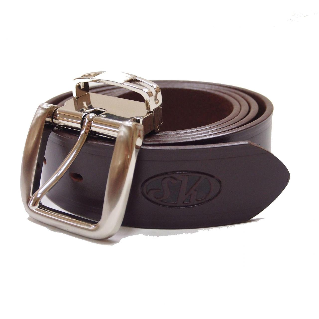 Neoprene Collar Full-Grain Leather Casual Traveler Belt