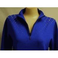 Buy cheap Christine Alexander sweater blue zipper crystal rain Size xlarge from wholesalers