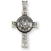 Buy cheap Design Your Own Sterling Silver 1 1/4in U.S. Army Cross Pendant from wholesalers