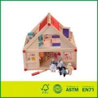 Buy cheap wood doll house Eco-Friendly Painted Wood Decoration House Model With Cheap Doll House from wholesalers
