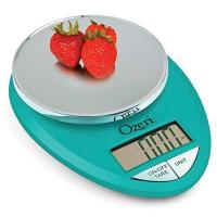 Ozeri ZK12-T Pro Digital Kitchen Food Scale, 1g/12 lb, Teal Blue Manufactures