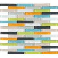 Buy cheap Mix Color Glass Mosaic Backsplash Tile for Kitchen Wall from China from wholesalers