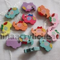 Buy cheap mixed colors animal jewelry wooden beads wholesale--MZ013 from wholesalers