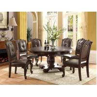 Buy cheap 60 Kiera Dark Cherry Round Dining Table Set from wholesalers