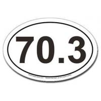 Buy cheap Bumper Stickers 70.3 Car Magnet - Oval from wholesalers