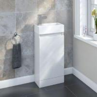 Buy cheap SP Epping Gloss White Floor Standing Unit 400mm - W: 395mm H: 750mm D: 215mm from wholesalers