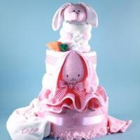Buy cheap Personalized Baby Gifts Deluxe Ricki Rabbit Personalized Diaper Cake from wholesalers