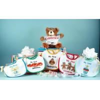 Wholesale Personalized Baby Gifts My First Holiday Bibs & Bear Baby Gift Set from china suppliers