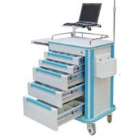 Medical Cart Luxury ABS EMERGENCY HOSPITAL TROLLEY with monitor stand
