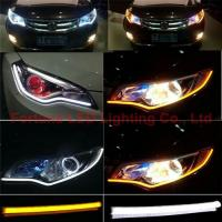 Auto LED Headlight Dual Color Flexible LED Light Guide Bar Manufactures