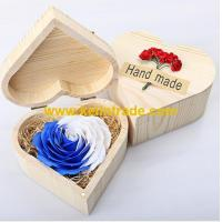 Buy cheap Good Smell rose soap flower the creative bath soap with heart shaped wooden box from wholesalers