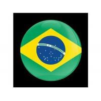 Buy cheap Dome Style 3 Inch Magnetic Badge - Flag Brazil from wholesalers
