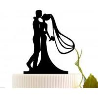 Buy cheap Wedding Cake Topper Groom And Bride with Veil from wholesalers