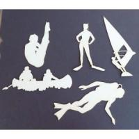 Buy cheap Stencil Template Scrapbook Embellishments Water Scuba Diving Boating Graphic from wholesalers
