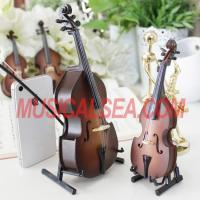 Buy cheap Miniature brown violin figurines with music box Musical Instrument from wholesalers