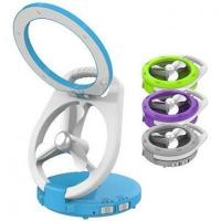 Buy cheap Durable plastic rechargeable folding cute led desk lamp with fan from wholesalers