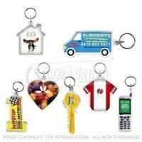 PRINTED Shapes Plastic Keyrings Manufactures